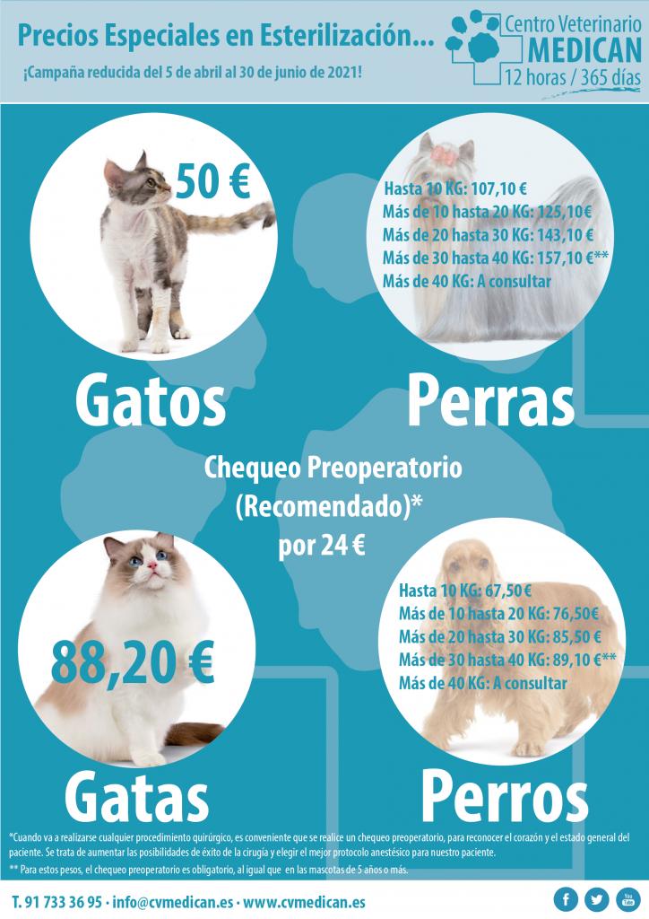 Campaña de esterilización: Clínica veterinaria Madrid Medican